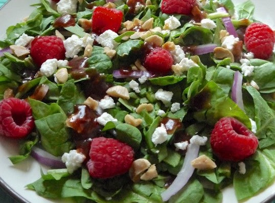 Raspberry & Feta Salad with Vinaigrette