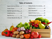 Load image into Gallery viewer, Dinners for Seniors Recipe Book