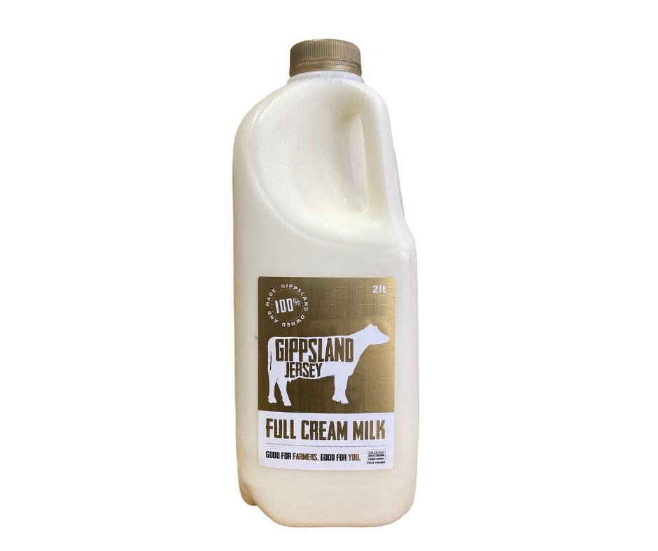 Gippsland Jersey - Full Cream Milk - 2L