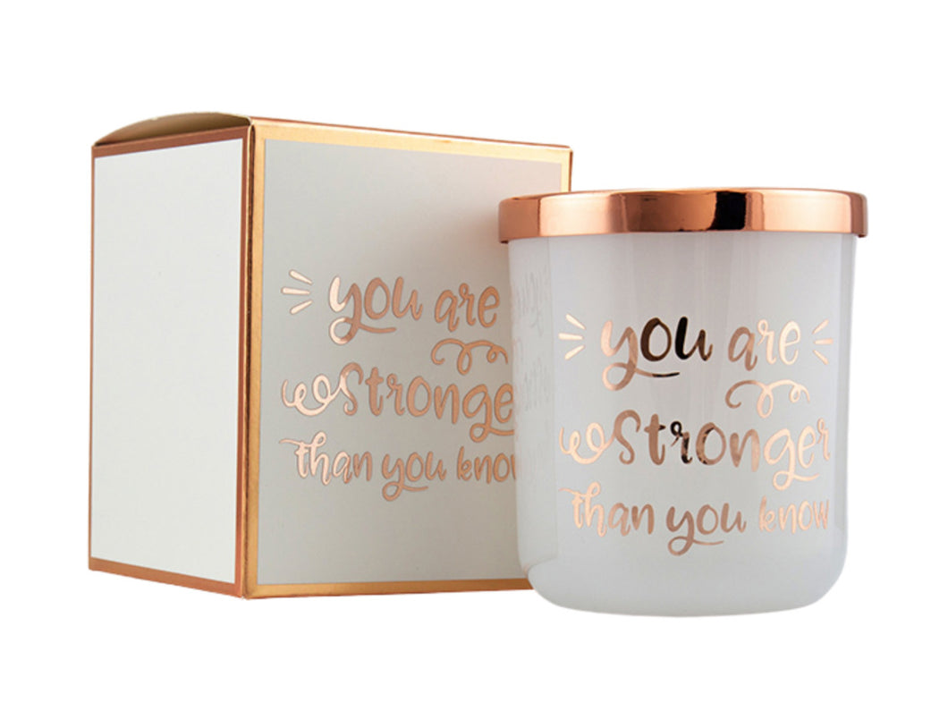 Candle - Stronger Than You Know - Rose Gold