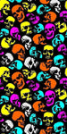 Skull Wall (Neon Fluorescent) CP002 | Aisle 13 at Pittsburgh poster