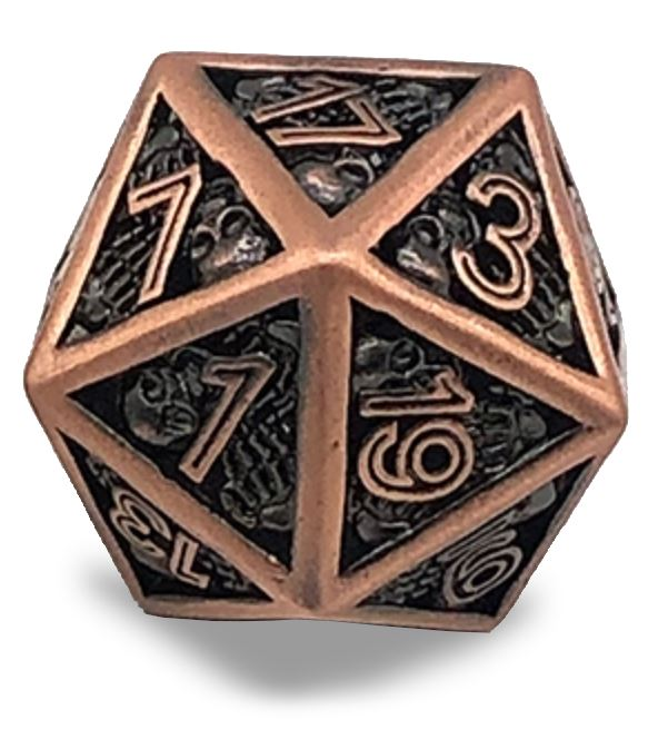 25mm Hollow Bones D20 D&D Dice Dice Mythroll Armory