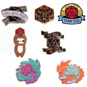 7 Different Tabletop Enamel Pins Mythroll Armory