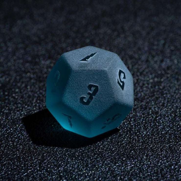 7 piece Aquatic Frost Embossed Dice Set Mythroll Armory