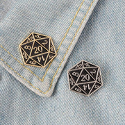 D20 enamel pins Mythroll Armory