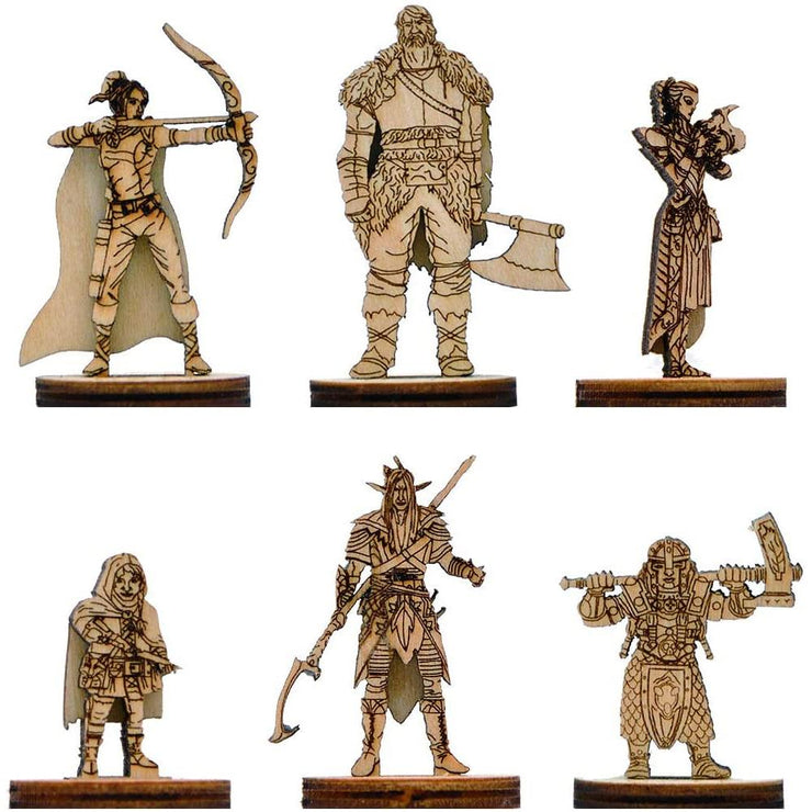 Fantasy Miniatures Wood Laser Cut Figures 6PCS (28mm) Mythroll Armory