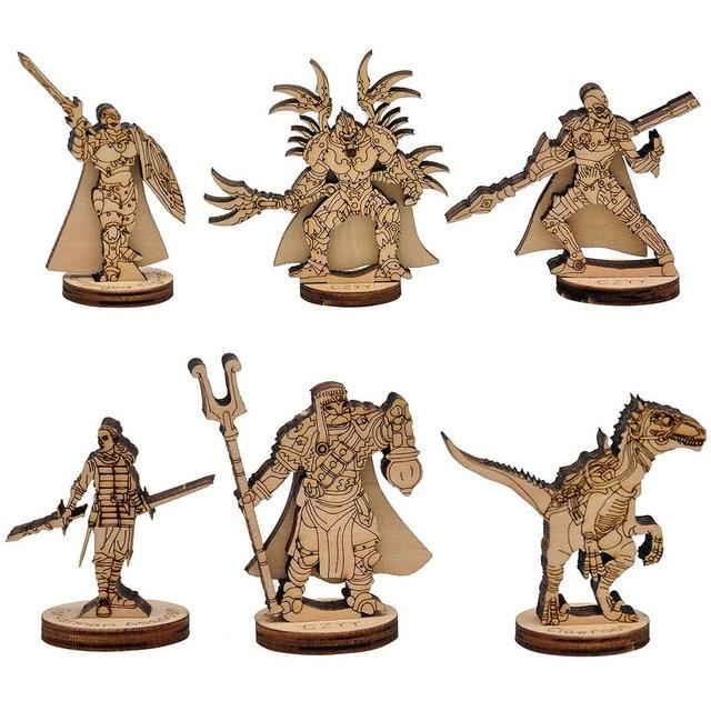 Fantasy Miniatures Wood Laser Cut Figures 6PCS (28mm) Mythroll Armory Style2