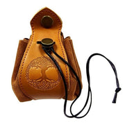 Portable Genuine Leather Drawstring Pouch Dice Bag and Tray Mythroll Armory Tree