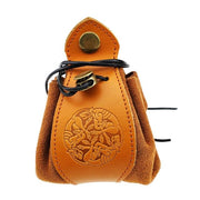 Portable Genuine Leather Drawstring Pouch Dice Bag and Tray Mythroll Armory Wolf
