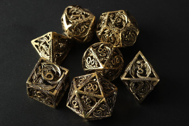 Set of Dragon D&D Dice Dice Mythroll Armory