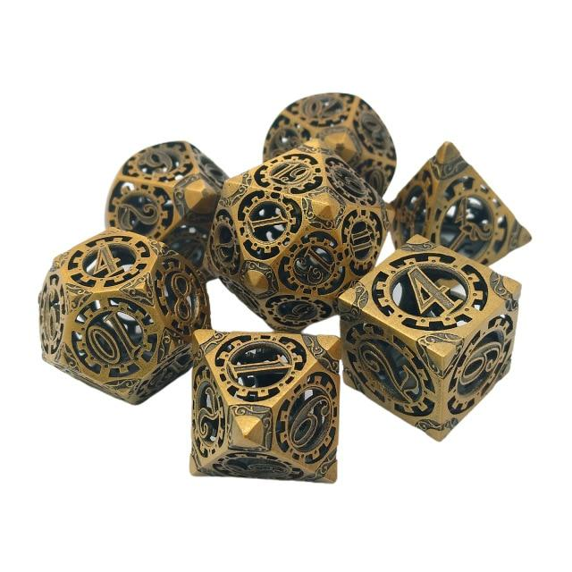 Steampunk Gear Dice Set in Bronze Mythroll Armory Golden