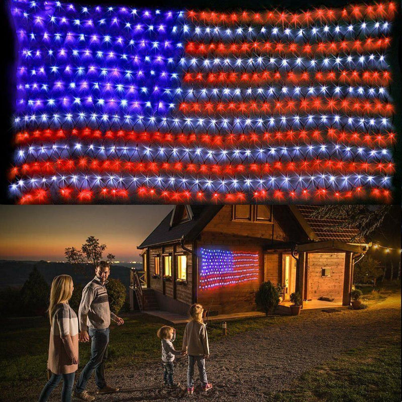 [50% discount on last day] American FLAG 420 LED STRING lamp-Large American FLAG outdoor lamp - 4zOutfitters Merchandise