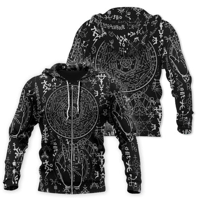 Occult Satan 3D All Over Printed Shirts Hoodie MP852