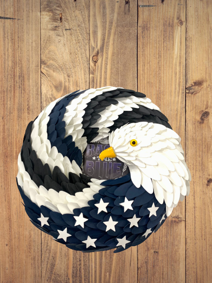 Thin and Blue Line Eagle Wreath - 4zOutfitters Merchandise