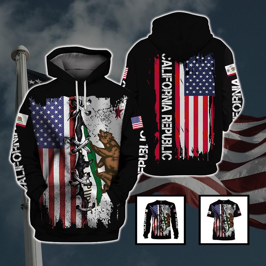 3d America Apparel - Californian Proud - 4zOutfitters Merchandise
