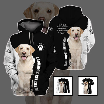 3d apparel - Best gift for dog Dad - Labrador Retriever - 4zOutfitters Merchandise