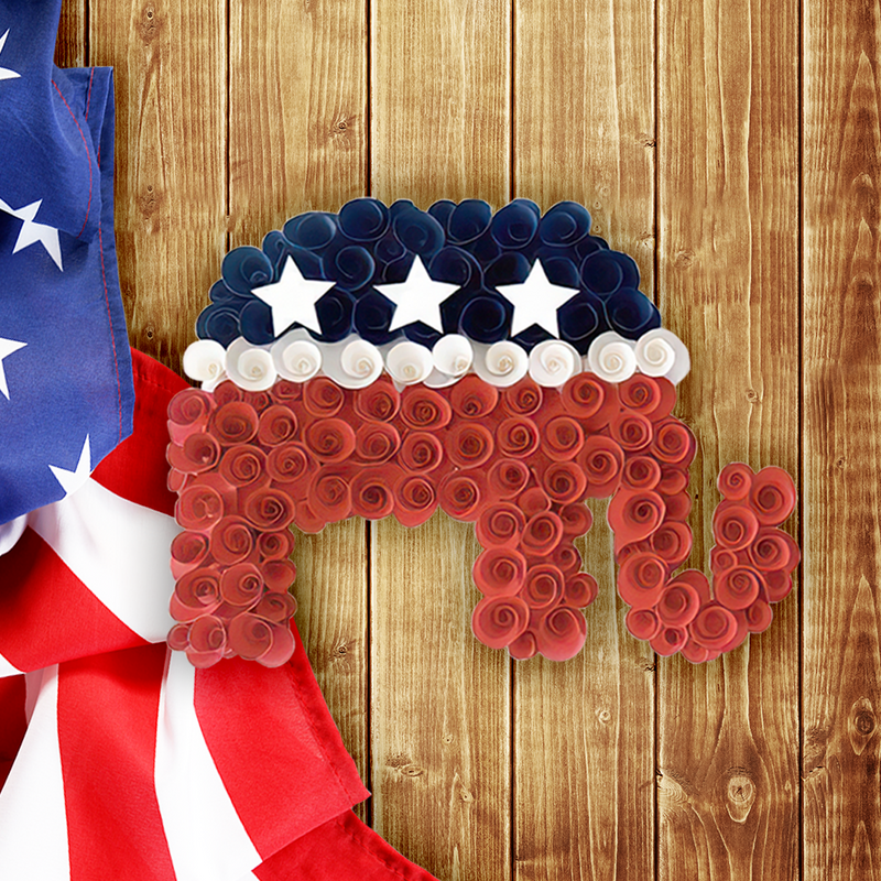 American Patriotic Elephant Wreath - 2020 Election - LIMITED EDITION