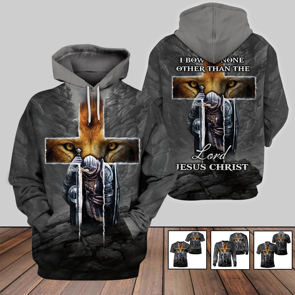 3D Full Print Apparel - I Bow To None Other Than The Lord Jesus Christ