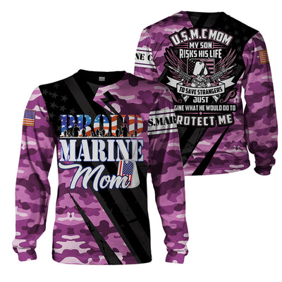 3D Full Print Apparel - U.S.M.C Mom
