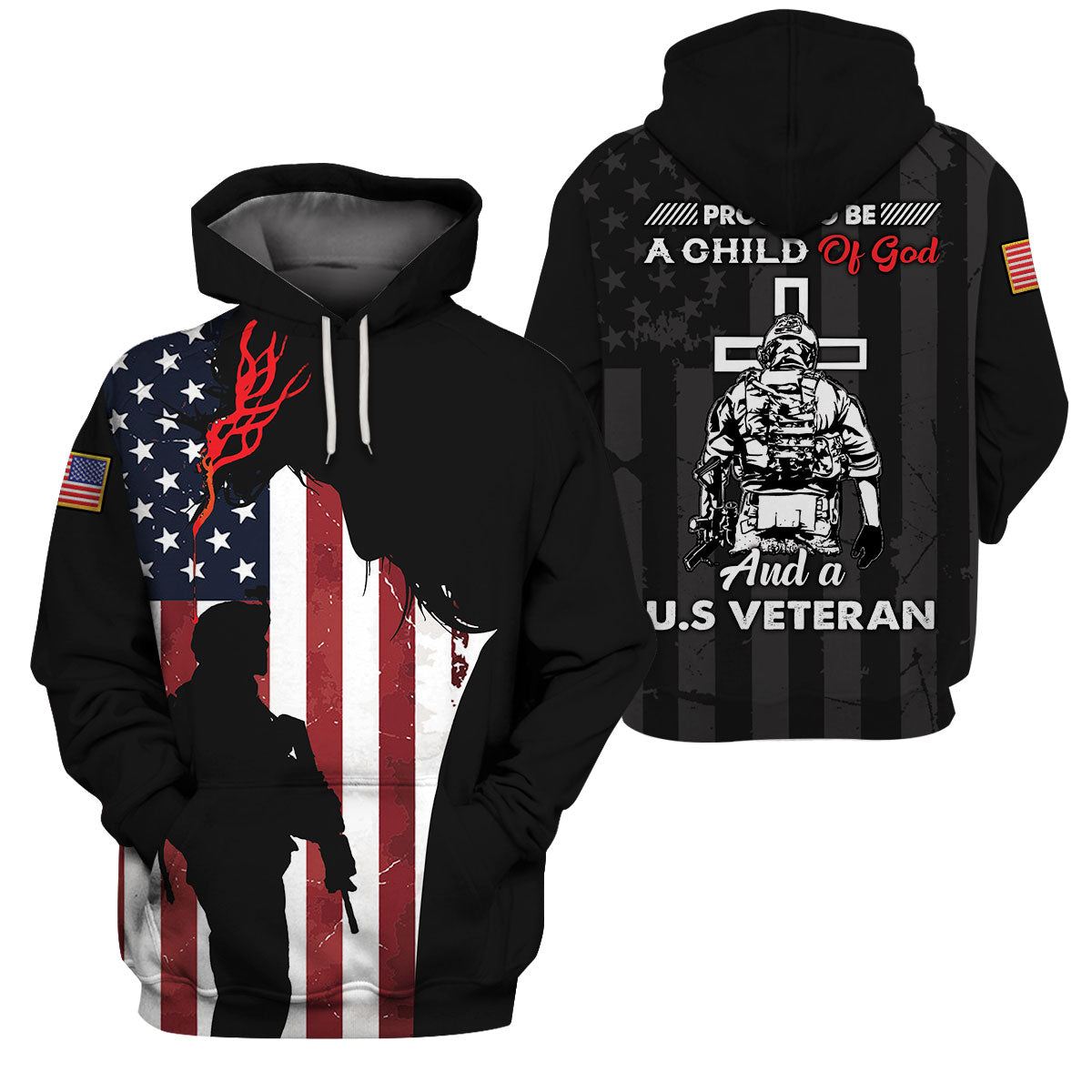 3D Full Print Apparel - U.S. Veteran and Child of God