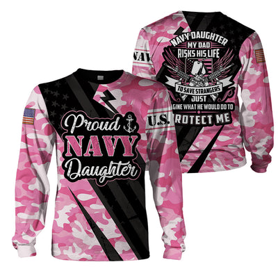 3D Full Print Apparel - U.S. NAVY Daughter
