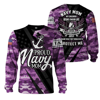 3D Full Print Apparel - U.S. NAVY Mom Version 2