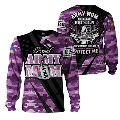 3D Full Print Apparel - Army Mom Version 2