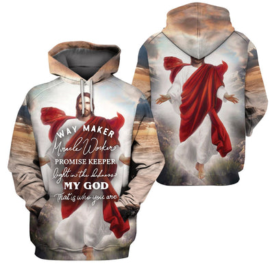 3D Christian Apparel - Way Maker Miracle Worker Promise Keeper - 4zOutfitters Merchandise