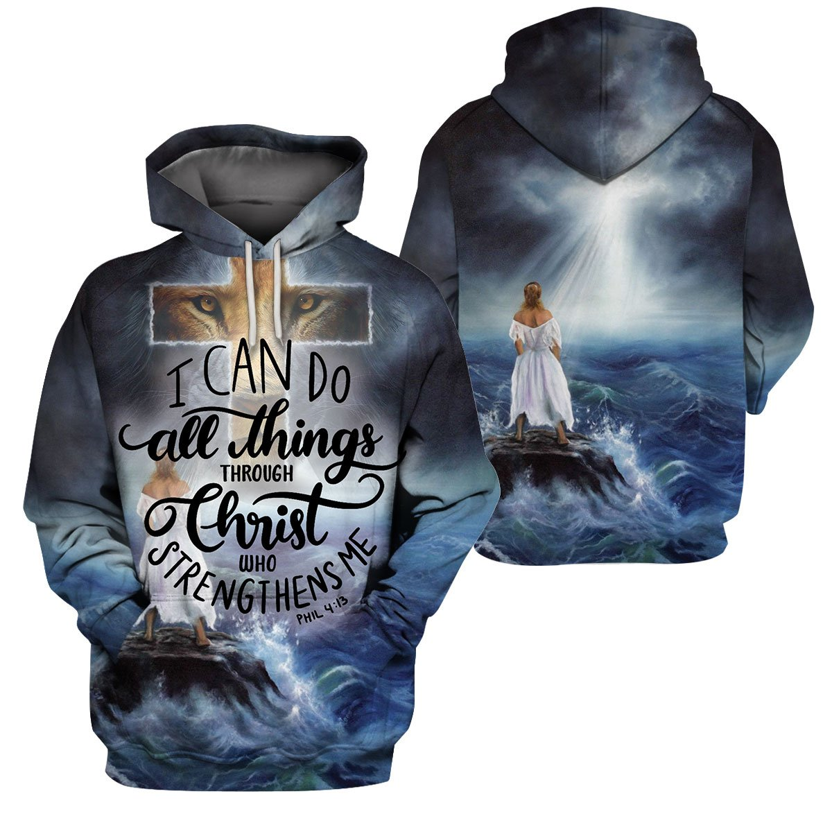 3D Christian Apparel - I Can Do All Things Through Christ Who Strengthens Me - 4zOutfitters Merchandise