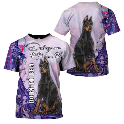 3D Full Print Apparel - Born To Be A Doberman Mom