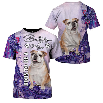 3D Full Print Apparel - Born To Be A Bulldog Mom