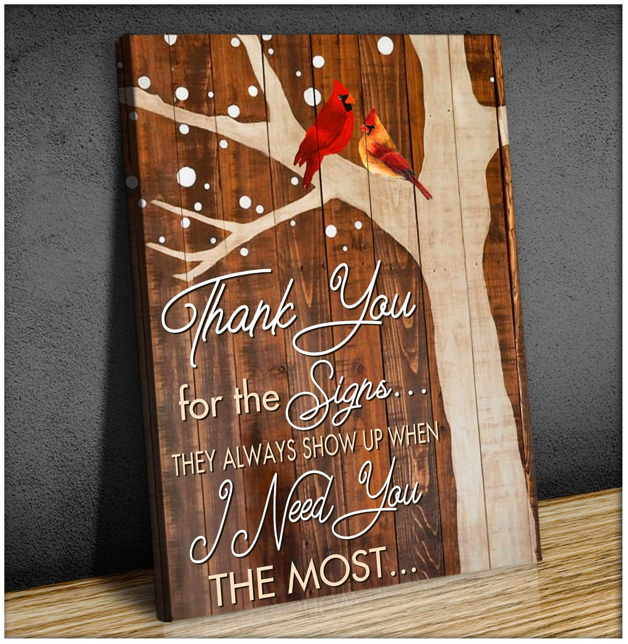 Canvas - Cardinal - Thank You - Portrait - GnWarriors Clothing