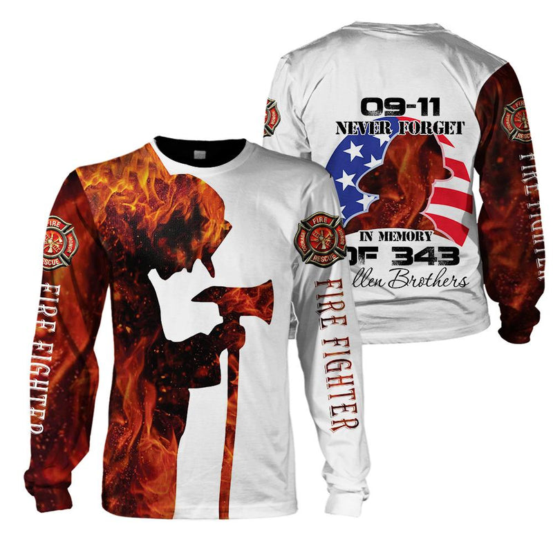 U.S Firefighter - 09/11 Never Forget - In memory of 343 fallen brothers - 4zOutfitters Merchandise