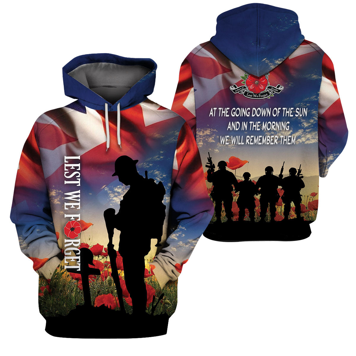 3D Veterans Clothing - Lest We Forget