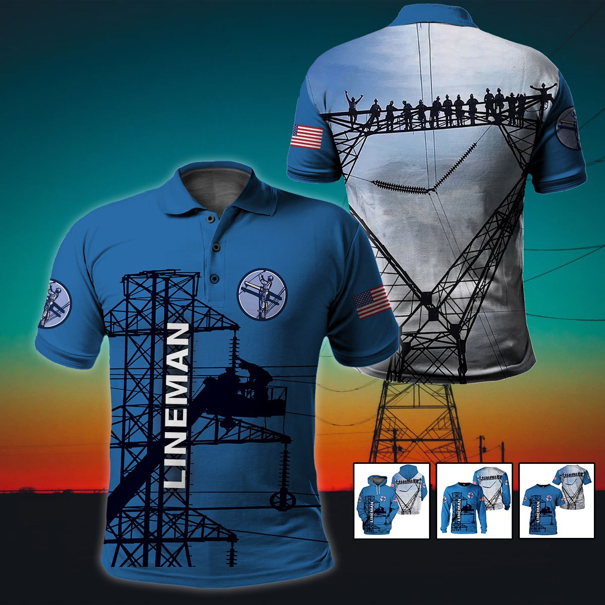 3d apparel - U.S Lineman