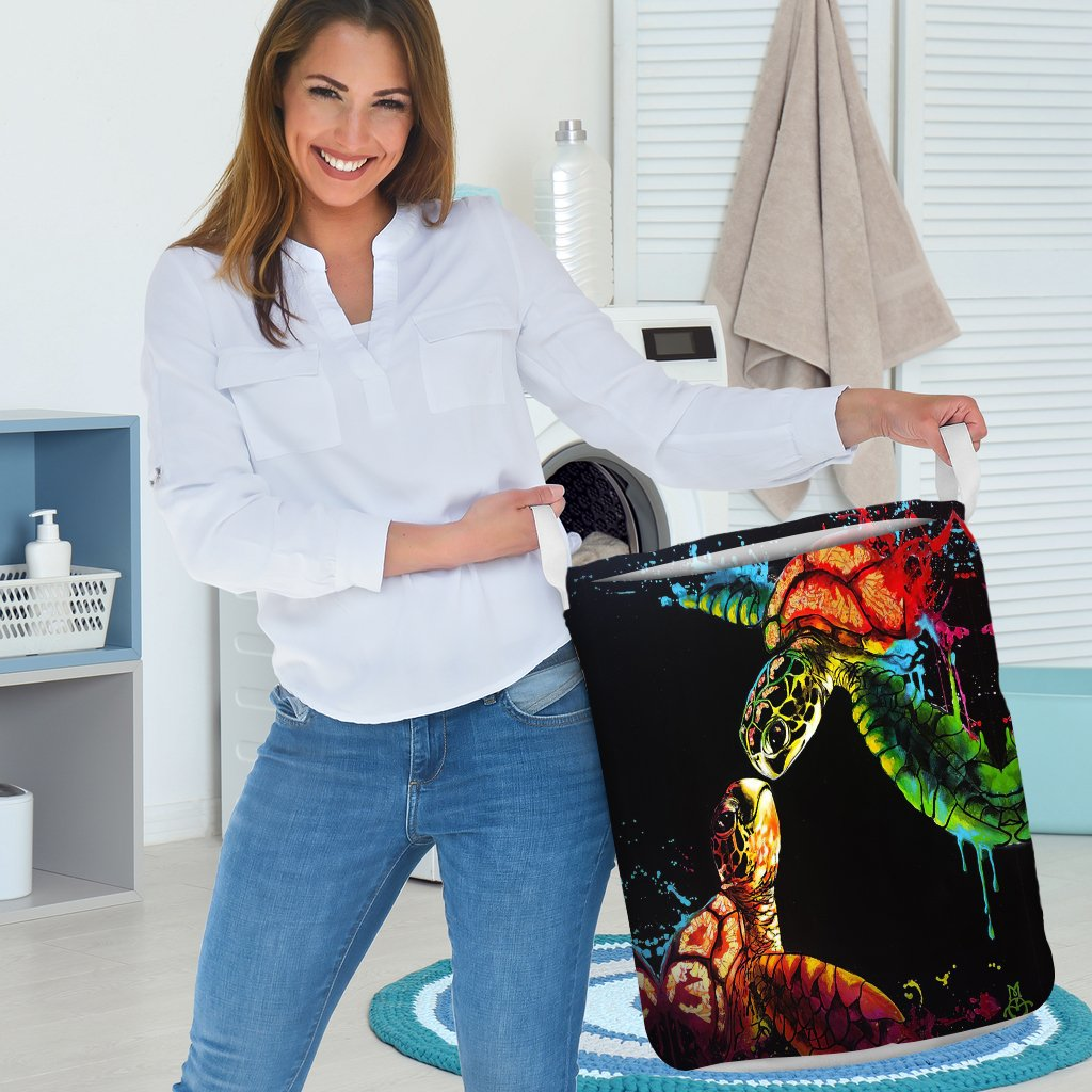 Laundry Basket - I love Turtles - 4zOutfitters Merchandise