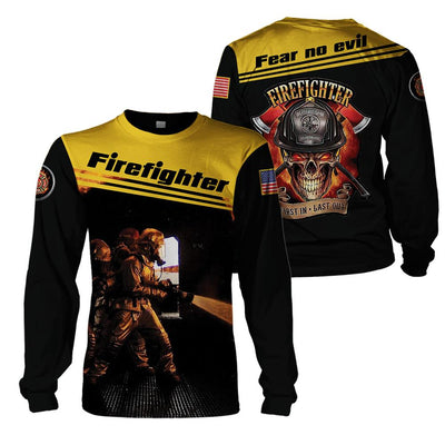 3d apparel - U.S Firefighter - Fear no evil