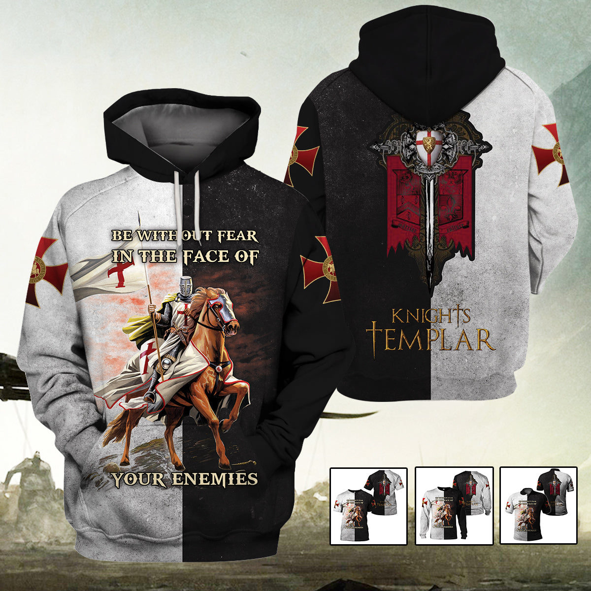 3D Knights Templar - Be without fear in the face of your enemies