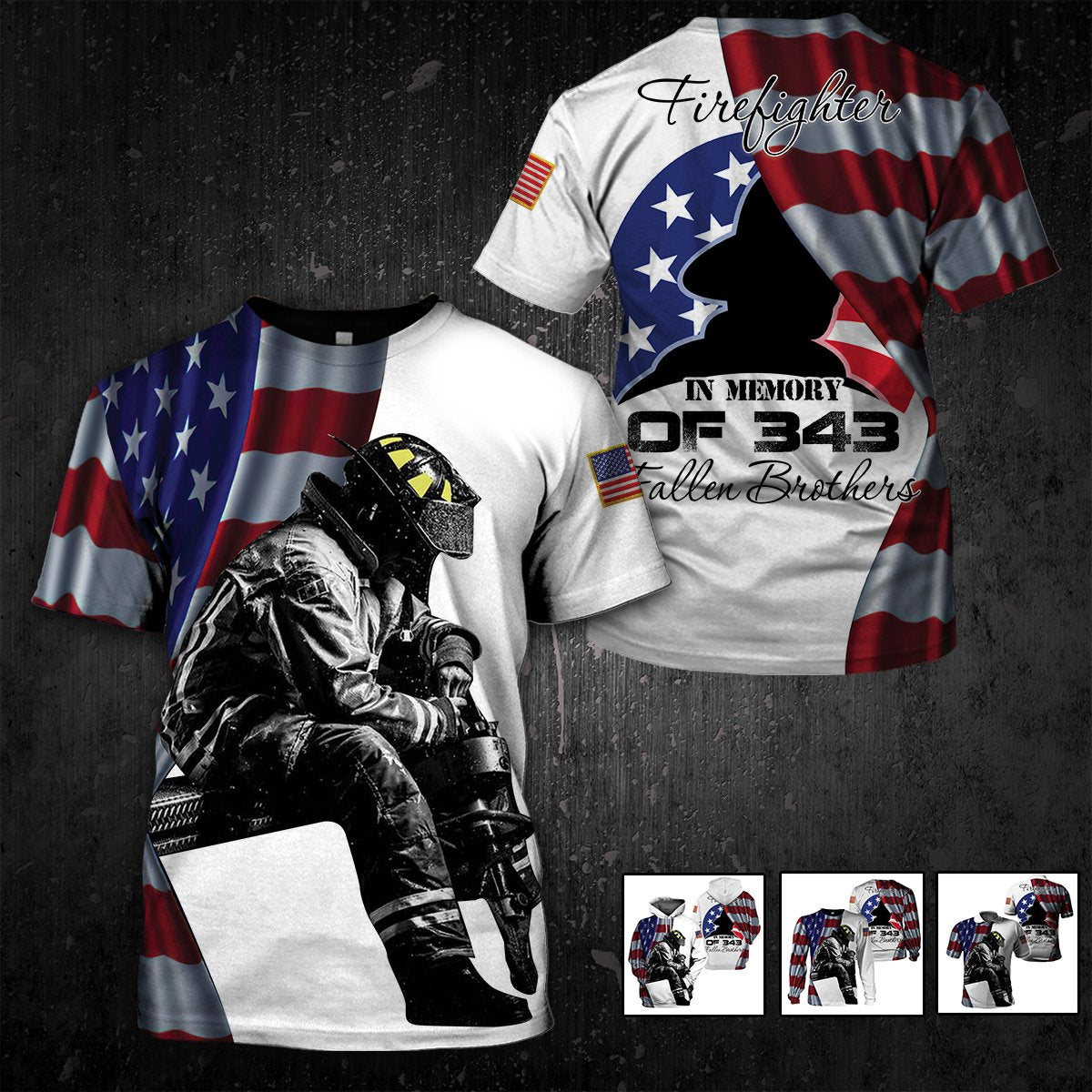 U.S Firefighter 09/11 - Never Forget - 4zOutfitters Merchandise