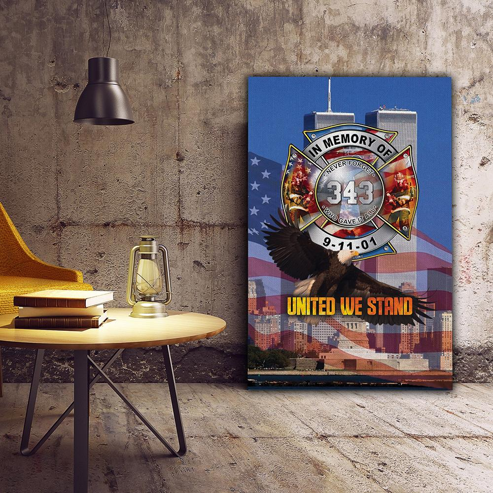 3D Canvas - Firefighters - Never Forget 09-11