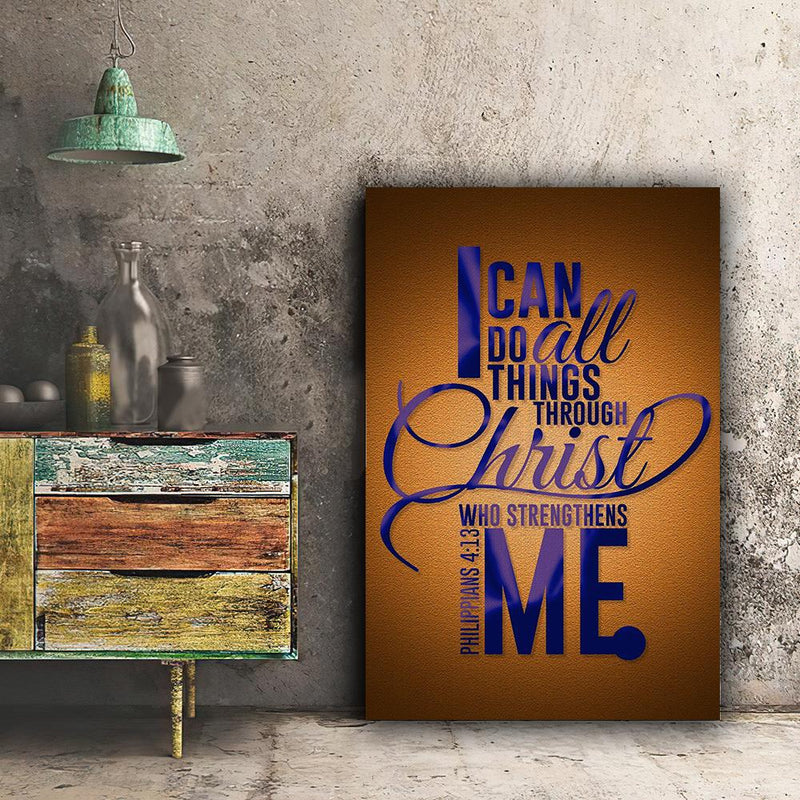 Christian Canvas - I can do all thing