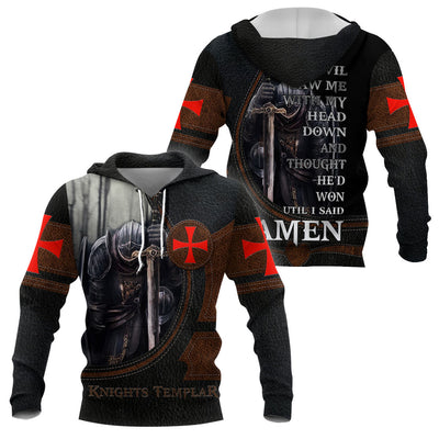 3D Knights Templar Hoodie - Sons of God