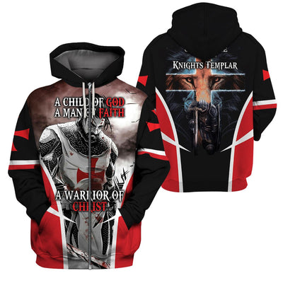 3D Christian Hoodie - A child of god - 4zOutfitters Merchandise