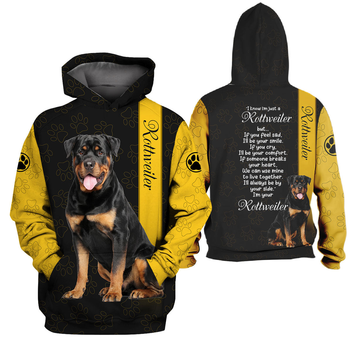 3d Apparel - I'll always be by your side - Rottweiler