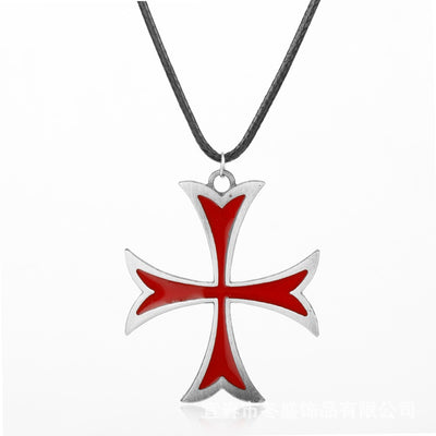 Men's Vintage Knights Templar Iron Cross Necklace - GnWarriors Clothing
