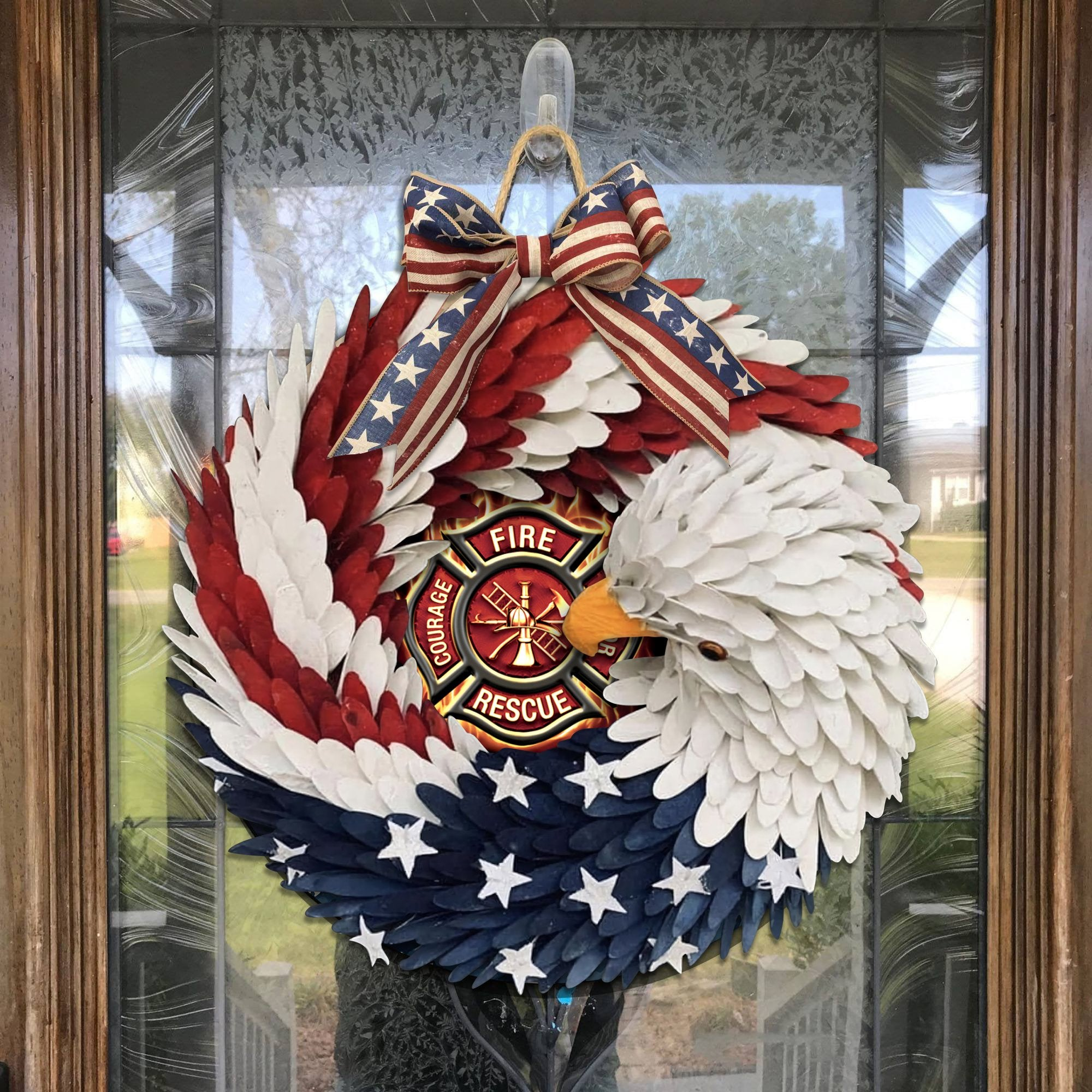 American Eagle Wreath - Firefighter Edition