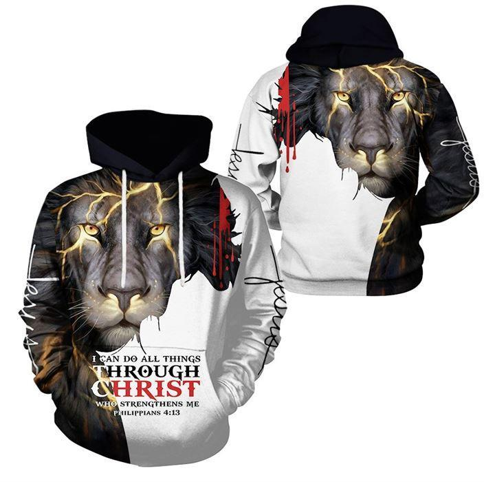Epic 3D Christian Clothing - I Can Do All Things Through Christ Christian Gift - GnWarriors Clothing