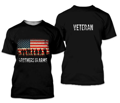 U.S Veteran 3D Printed Clothing - Brothers In Arms - GnWarriors Clothing