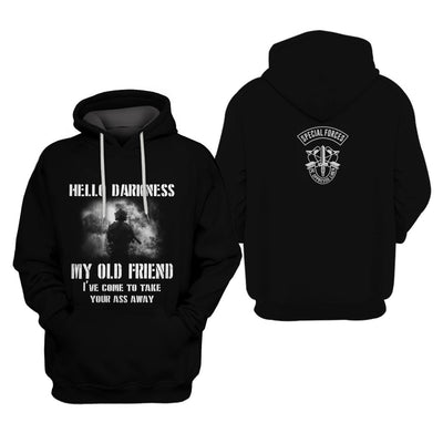 U.S Army Apparel - All Over 3D Printed Clothing - Hello Darksness, My Old Friend - GnWarriors Clothing