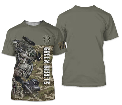 U.S Green Berets Apparel - All Over 3D Printed Clothing - GnWarriors Clothing